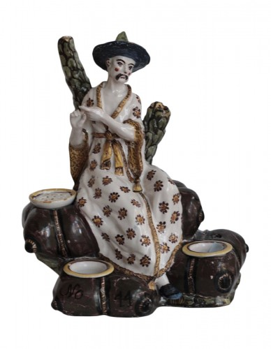 A Lille faience writting case of 18th century