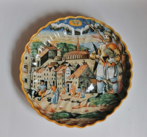 <= 16th century - Urbino majolica cup &quot;Winter&quot;