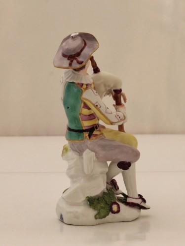 Porcelain & Faience  - Harlequin statuette in Meissen porcelain