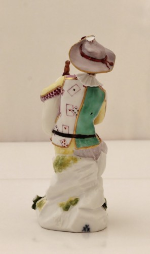 Harlequin statuette in Meissen porcelain -