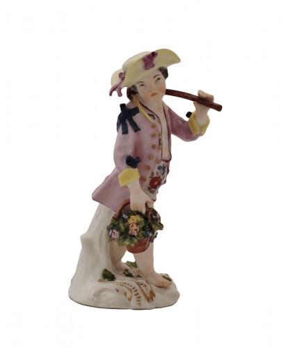 Meissen porcelain gardener statuette