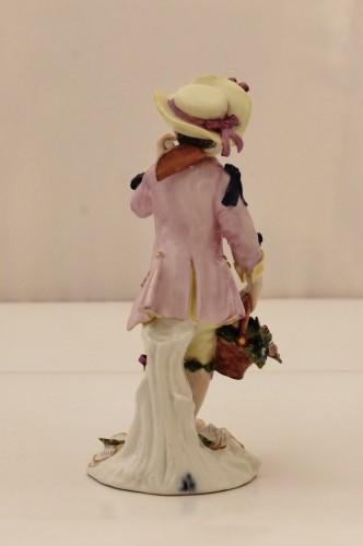 Porcelain & Faience  - Meissen porcelain gardener statuette