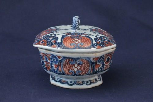 Rouen earthenware spice box - Porcelain & Faience Style