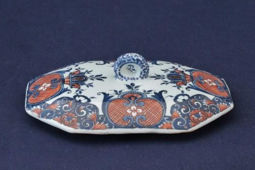 Rouen earthenware spice box -