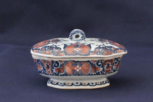 Antiquités - Rouen earthenware spice box