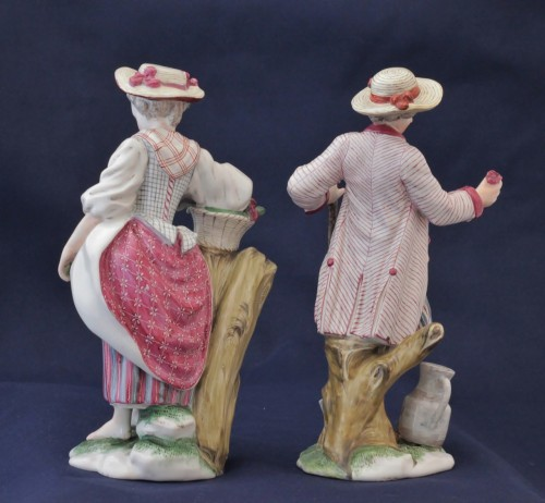 Porcelain & Faience  - Pair of Niderviller earthenware statuettes