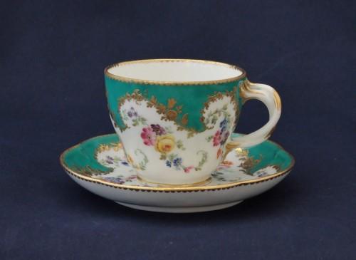 - Vincennes porcelain green cup