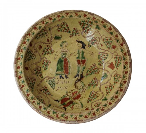 commemorative dish dated 1716, Germany - Niederrhein