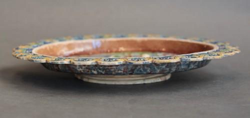 Porcelain & Faience  - Enamelled terracotta dish