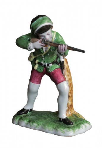 Hunter in Strasbourg earthenware, circa 1750-1754