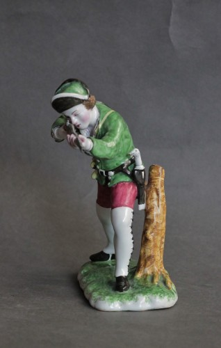Hunter in Strasbourg earthenware, circa 1750-1754 - Porcelain & Faience Style Louis XV