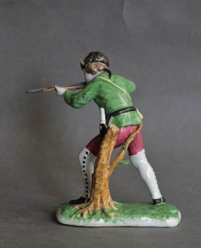 Hunter in Strasbourg earthenware, circa 1750-1754 -