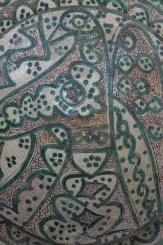 Ceramic Dish Of Amol (Iran) 12th Century -