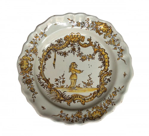 Angoulême (France) plate, end of the 18th century