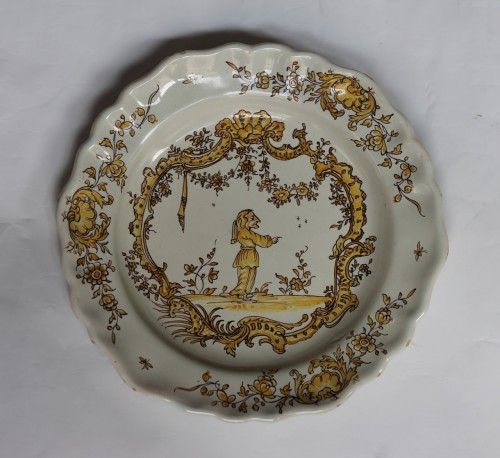18th century - Angoulême (France) plate, end of the 18th century