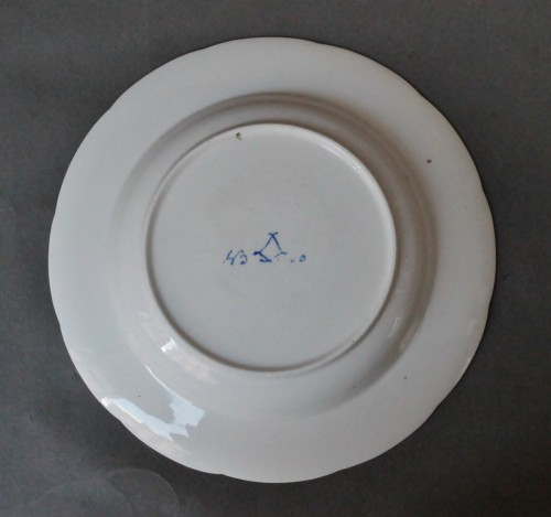 """Soup plate in soft Sèvres porcelain from the """"Bombelles"""" service, 18th century -"""