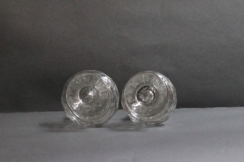 Glass & Crystal  - Pair of glass sprinklers, Bohemia, circa 1730