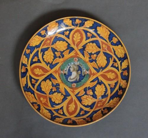Large bowl in Castel-Durante or Urbino majolica, Circa 1535-45 - Porcelain & Faience Style Renaissance