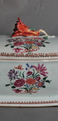 Covered Tureen in porcelain of Chine, Company of the Indies, 18th century - Louis XV