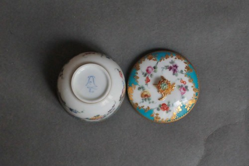 Sugar Pot in Vincennes Porcelain Circa 1756 -