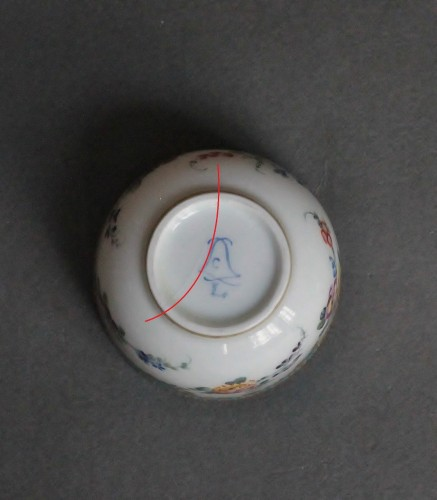 Antiquités - Pot à sucre en porcelaine de Vincennes 1756