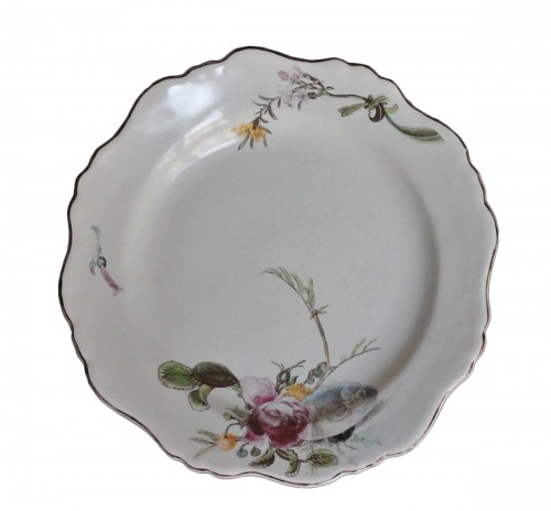 "Marseille, Plate with decoration said ""à la bouillabaisse"", 18th century"