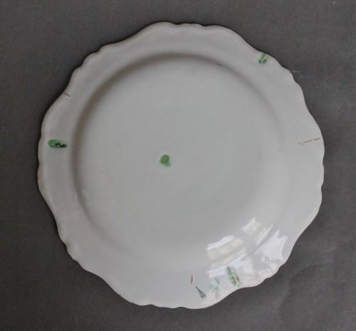 """Marseille, Plate with decoration said """"à la bouillabaisse"""", 18th century -"""