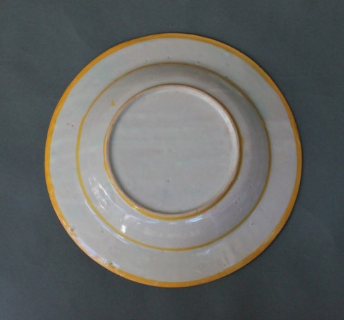 "Urbino dish with ""a istoriato"" decoration of Venus, Satyre and Cupidon 16th -"