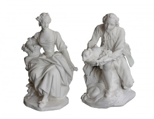 Pair of Biscuits of porcelain of Vincennes – Sèvres, 18th century