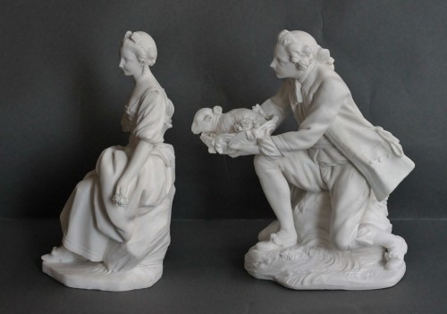 Pair of Biscuits of porcelain of Vincennes – Sèvres, 18th century - Porcelain & Faience Style Louis XV