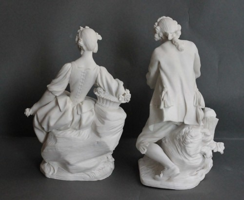 Porcelain & Faience  - Pair of Biscuits of porcelain of Vincennes – Sèvres, 18th century