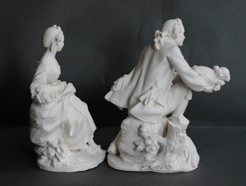 Pair of Biscuits of porcelain of Vincennes – Sèvres, 18th century -