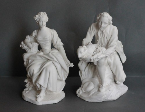 Louis XV - Pair of Biscuits of porcelain of Vincennes – Sèvres, 18th century