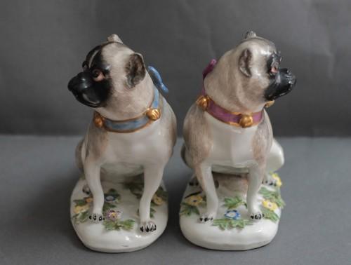 Pugs in Meissen porcelain (Saxony, Germany), circa 1745 -