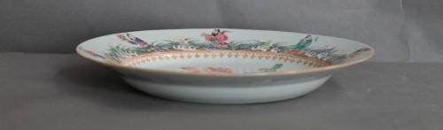 China porcelain, plate with mandarins ducks, Qianlong period, 18th century. - Louis XV