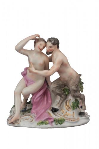 Meissen porcelain group, model of J.J. Kandler, 18th century.