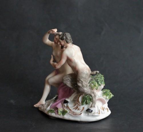 Meissen porcelain group, model of J.J. Kandler, 18th century. - Porcelain & Faience Style Louis XV