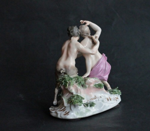 Porcelain & Faience  - Meissen porcelain group, model of J.J. Kandler, 18th century.