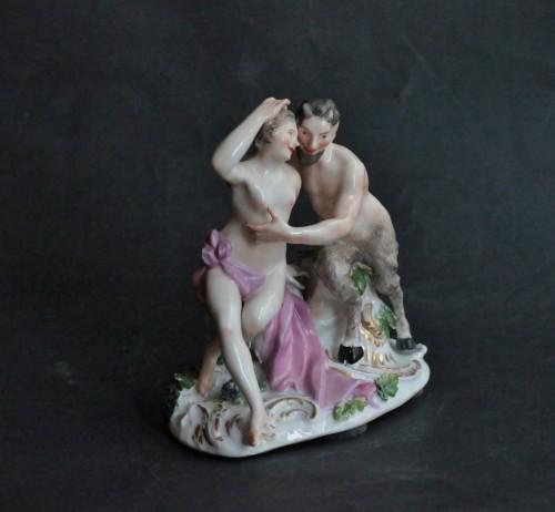 18th century - Meissen porcelain group, model of J.J. Kandler, 18th century.