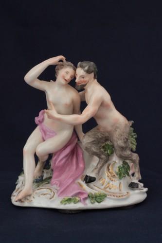Antiquités - Meissen porcelain group, model of J.J. Kandler, 18th century.