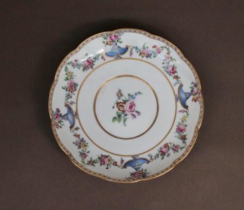 Porcelain & Faience  - Sevres porcelain Ecuelle à bouillon with cassolettes and flowers, 18th century