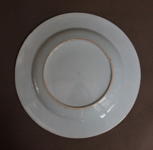 """Porcelain & Faience  - Plate China Compagnie des Indes """"petrus de Wolff"""", circa 1740"""