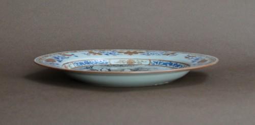 """Plate China Compagnie des Indes """"petrus de Wolff"""", circa 1740 -"""