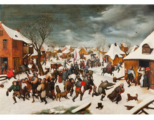 The massacre of the Innocents under the snow