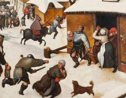 The massacre of the Innocents under the snow - Paintings & Drawings Style