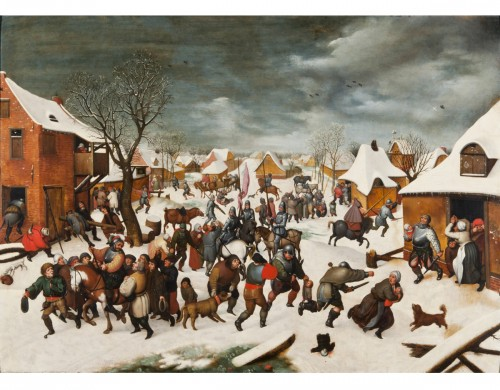 16th century - The massacre of the Innocents under the snow