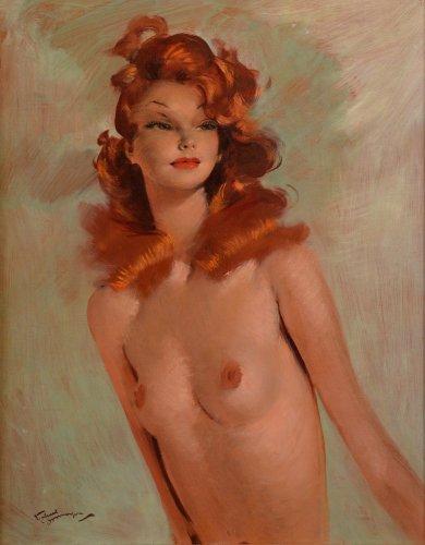 Jean-Gabriel Domergue (1889-1962) - Bust portrait of Rita Hayworth