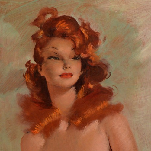 Jean-Gabriel Domergue (1889-1962) - Bust portrait of Rita Hayworth - Paintings & Drawings Style