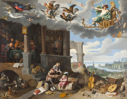 Jan BRUEGHEL le jeune (1601-1678) - Allegory of the Arts
