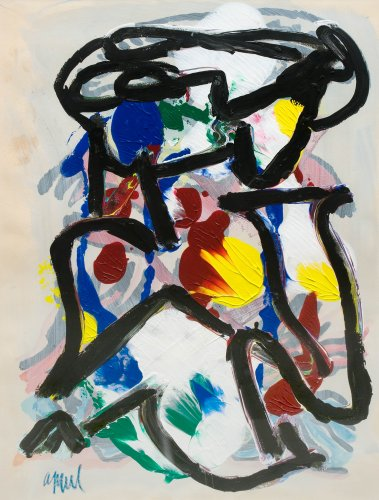Karel APPEL (1921-2006) - Composition abstraite